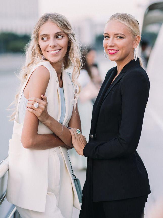 Ясмина Муратович и Анжелика Тиманина — обе в украшениях Chopard