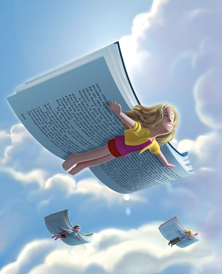 Reading gives you wings!