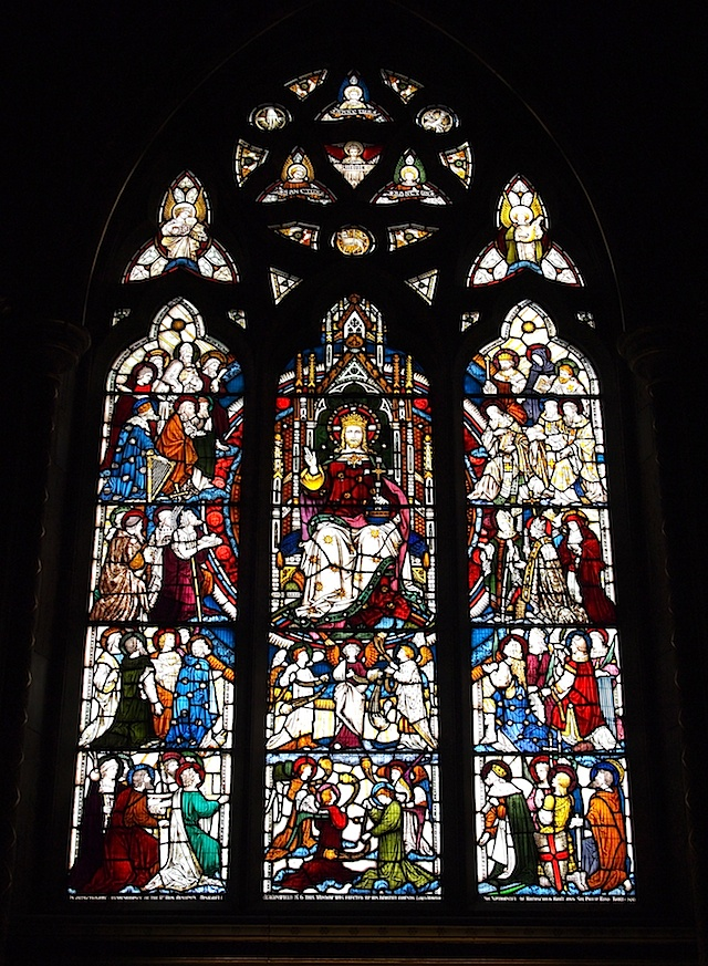 Memorial Stained Glass Window - The Church - Hughenden Manor - Buckinghamshire - England