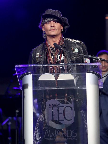 Johnny Depp Photos - Actor Johnny Depp speaks onstage at the TEC Awards during NAMM Show 2017 at the Anaheim Hilton on January 21, 2017 in Anaheim, California. - The NAMM Show 2017 - TEC Awards