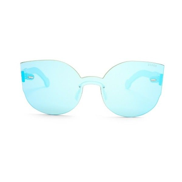 RetroSuperFuture Tuttolente Lucia cat-eye sunglasses ($118) ❤ liked on Polyvore featuring accessories, eyewear, sunglasses, blue, mirrored sunglasses, blue lens glasses, blue cat eye sunglasses, blue mirror sunglasses and retrosuperfuture sunglasses