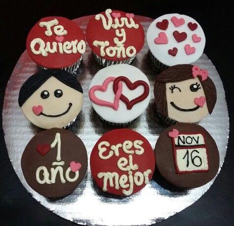 Cupcakes Aniversario de Novios