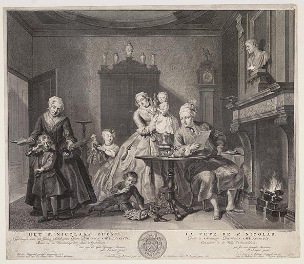 Burgerlijke Sinterklaasviering uit 1761