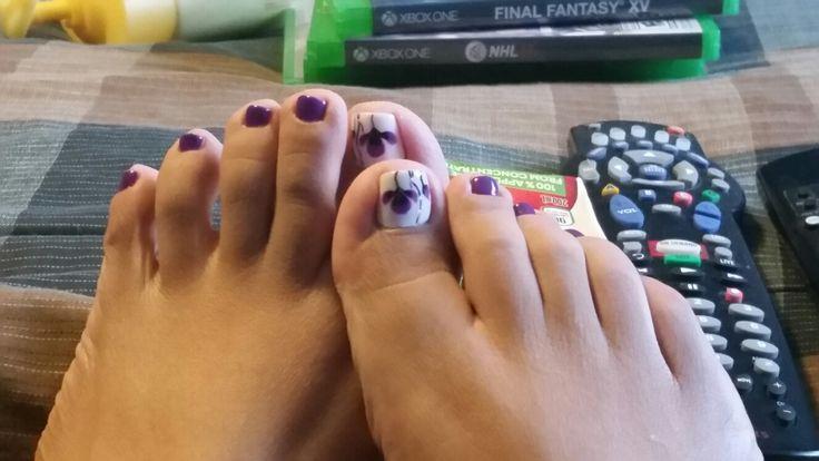 Purple pedi!