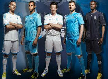 Olympique de Marseille 2013/14 adidas Home, Away and Third Jerseys