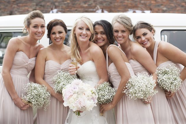 i LOVE the baby's breath bouquets!! they would even match if the boys had babys breath boutonnieres.