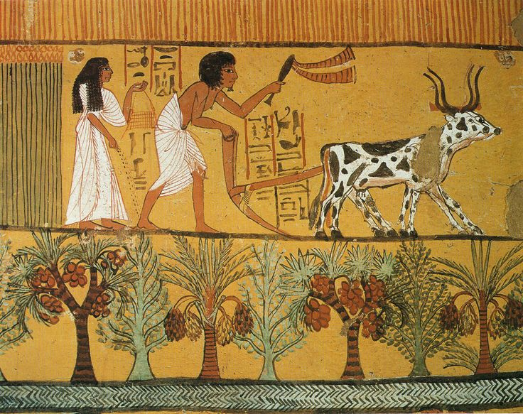Ancient egyptian landscape painting gardens for and of for Egyptian mural painting