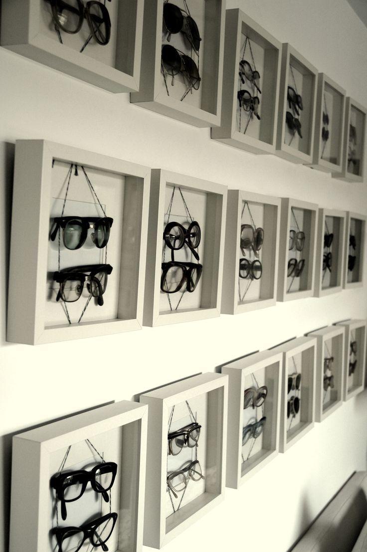 organisera solglasögon i tavelramar
