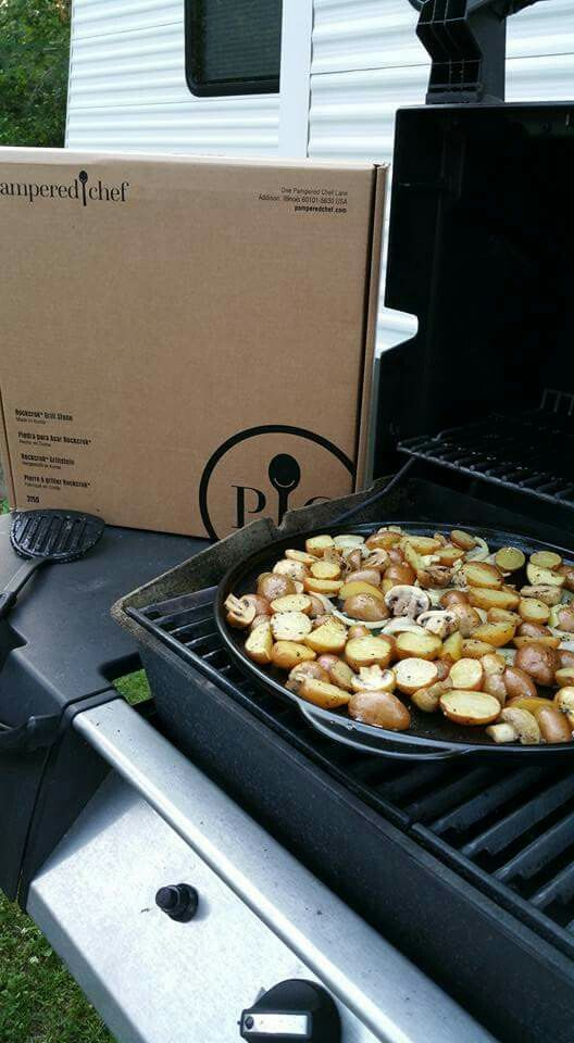 Grilled Vegetables on the Rockcrock Grill Stone