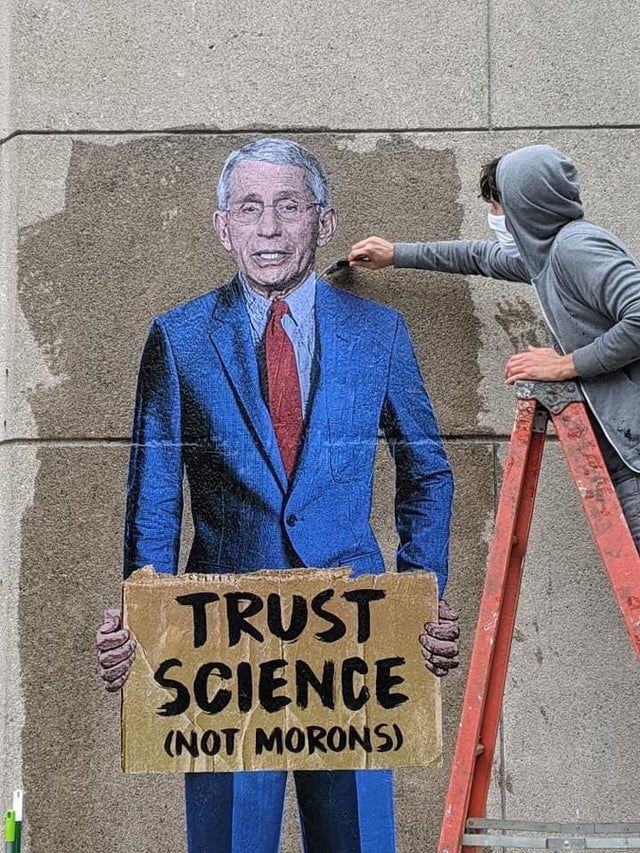 Fauci Has A Message For You Pics Ny Art One Word Art Science