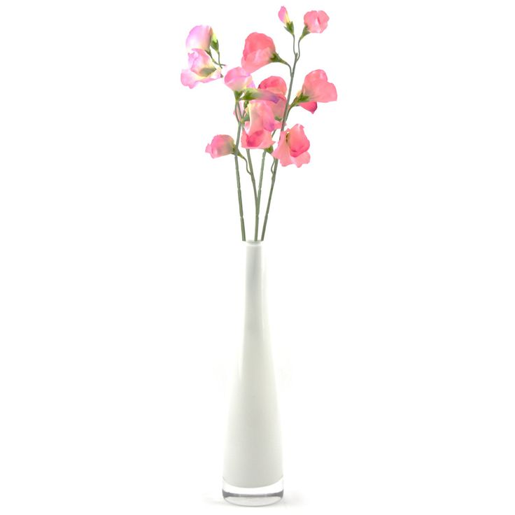 78 best silk artificial flower arrangements images on pinterest artificial silk flower arrangement sweet peas in white bud vase mightylinksfo Gallery