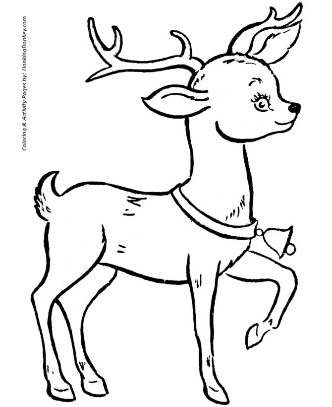 santa pictures to print santas reindeer coloring sheet cute santas reindeer with - Sven Reindeer Coloring Pages