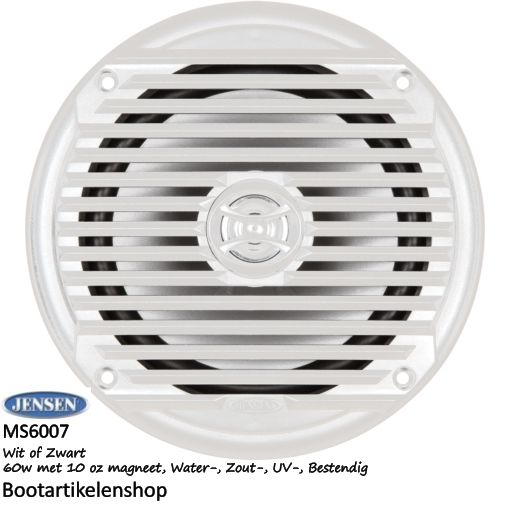 Jensen Marine MS6007 boot speaker. 60W kleur: wit of zwart