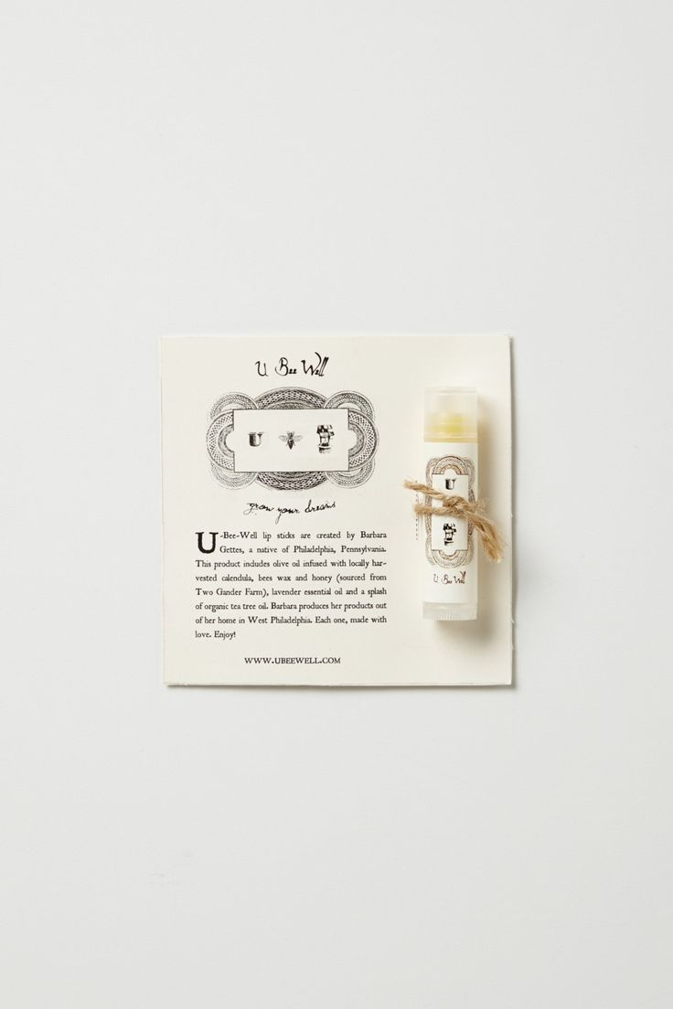 U Bee Well Lip Balm | Anthropologie