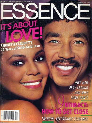 Black Love on ESSENCE Covers Through the Years; Smokey Robinson and Claudette Robinson Smokey Robinson and his wife Claudette (of The Miracles) celebrated 22 amazing years together on the cover of ESSENCE in February 1982. They split in 1987 but during their 18 year marriage they became the proud parents of two children, a daughter and a son.