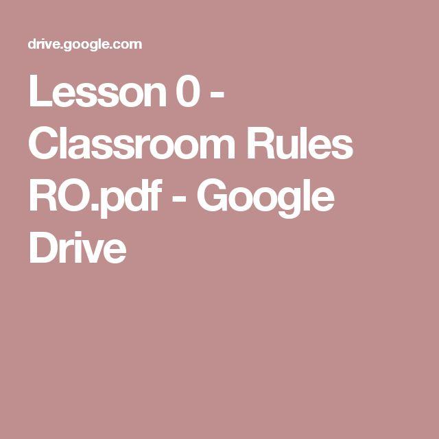 Lesson 0 - Classroom Rules RO.pdf - Google Drive