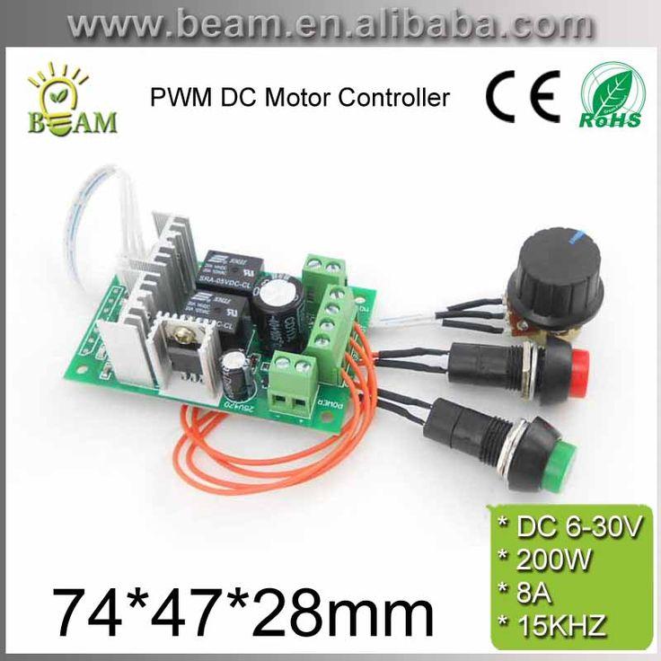 PWM DC-Motor-Controller 6V12V 24 V Elektrische Antriebsvorschubvorrichtung Linearantrieb Motor Drehzahlregler mit Knopf und Positive Inversion