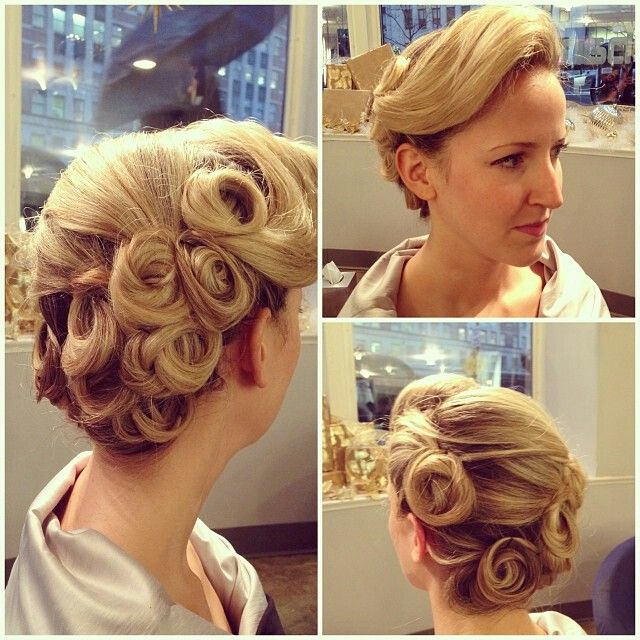 1940 Wedding Hairstyles: 1940's Retro Updo. A Real Pin Up...