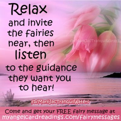 FREE Fairy Messages for you! CLICK HERE ➡ http://www.myangelcardreadings.com/fairymessages to get yours