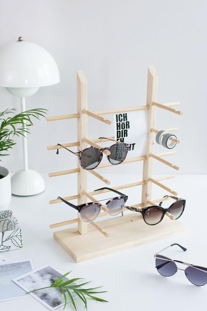 DIY: Einfaches Sonnenbrillen Display aus Holz selber bauen