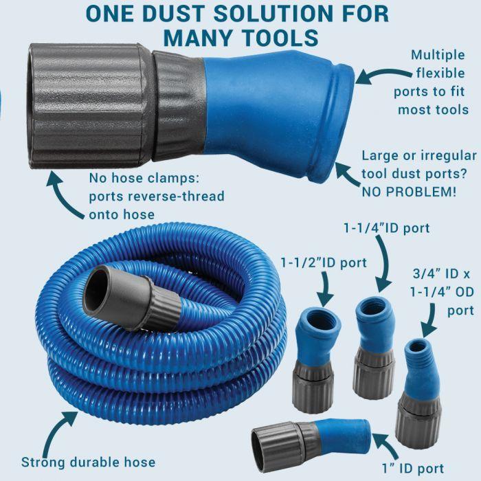 Dust Right Flexiport Power Tool Hose Kit 12 Fixed Length In 2020 Power Tools Hose Festool Tools