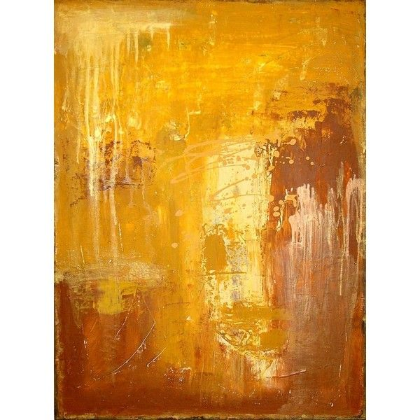 Reserved gold and mustard abstract acrylic painting fine for Textured acrylic abstract paintings