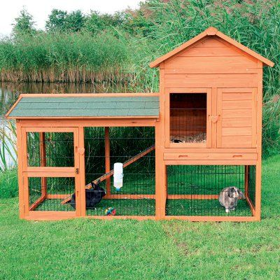 TRIXIE Rabbit Hutch with Outdoor Run 62332 - TXE126