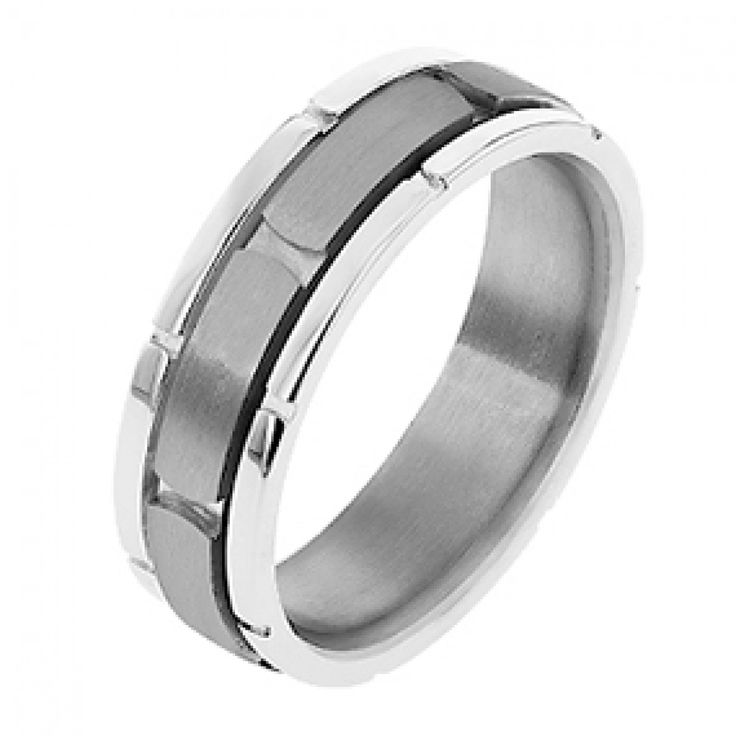 Spectacular Men us Dora Gold and Titanium Wedding Ring Wedding Rings Rings Jewellery