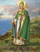 Who is St. Patrick? - Free Online St. Patrick's Day Reading Comprehension Worksheet and Questions to Test Understanding for 3rd and 4th Grades. Desktop, tablet and mobile phone browsers