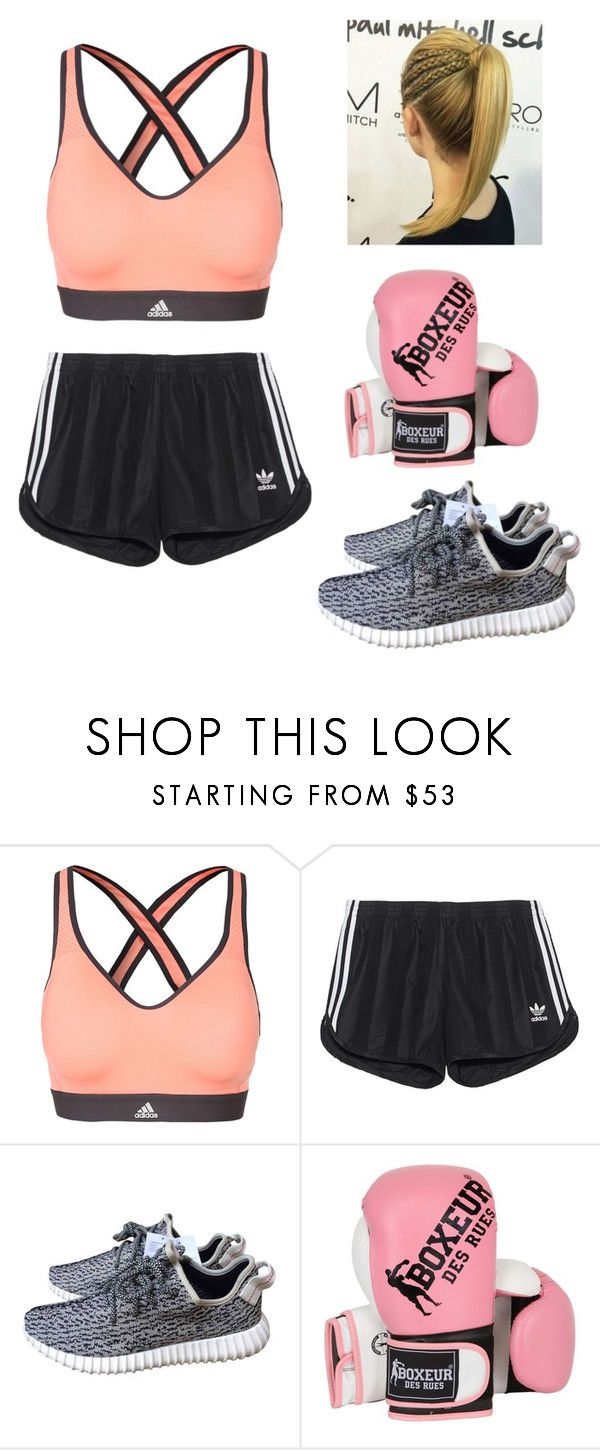 """""""Boxing outfit"""" by valerieg0911 ❤ liked on Polyvore featuring adidas, adidas Originals and Boxeur Des Rues"""