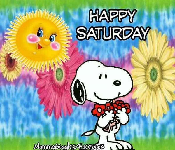 Colorful Snoopy Saturday Quote | Quotes | Saturday quotes