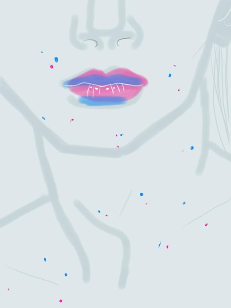 Andrej Pejic #portrait by Open Toe, fashion illustrated / Opentoeillustration.com
