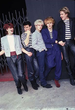 The New Romantics: This was a reaction to punk and glam rock fashions. It was an idealized view of historic periods. The men took on very feminine features and wore makeup.