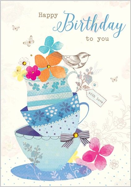 Card Ranges » 7574 » Teacups - Abacus Cards - Greetings Cards, Gift Wrap & Stationery