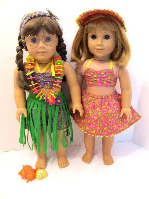American Girl 18 in Doll  MOLLY Beach Wear & by TateMuseumOnline, $5.95
