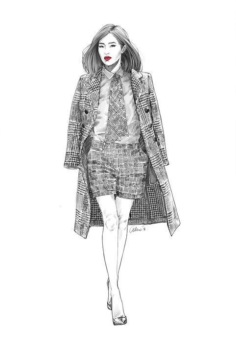 Fashion illustration - chic fashion drawing // Alex Tang