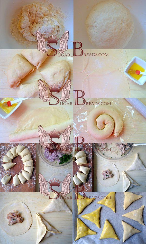 Τραγάνα πιτάκια με πικάντικη γέμιση κοτόπουλου | Sugar & Breads in Greece