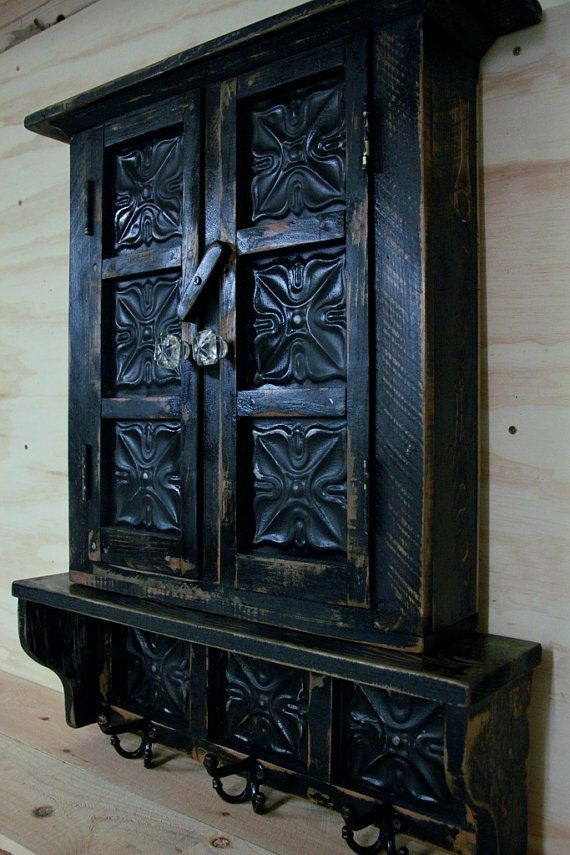 Small Primitive Wall Cabinet French Country Wall Shelf