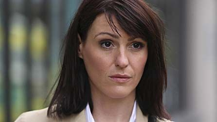 Suranne Jones - cafe on Old Compton Street.