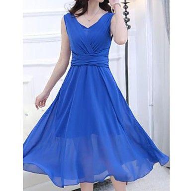 Gran Columpio para mujeres sin mangas del chaleco del vestido – USD $ 32.19