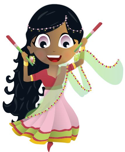 Namaste! It's Rina! Not that long ago she was teaching folk dancing to little kids in a small village in Gujarat, India during Diwali, the festival of lights. One of the Fairy Teacher Mother Superstar Queens showed up and gave her a special tiara! Her special power is that she can hear things from very far away. She can also hit her dandia sticks together to create sound waves that will help her find things using echolocation, just like bats and dolphins. #SuperDuperPrincessHeroes #SDPH
