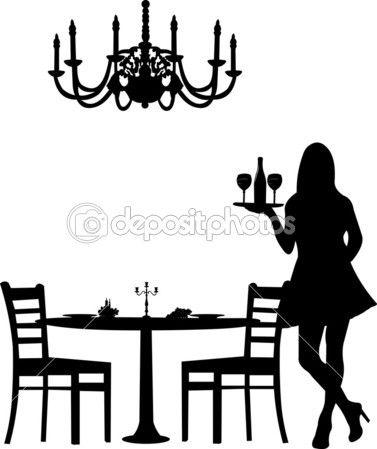 Dîner romantique pour deux avec table et deux chaises, bougie de décoration et…