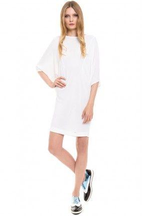 Simple - Sukienka biała prosta