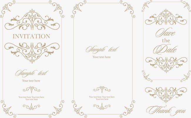 Vetor Retro Convites De Casamento Medieval Wedding Invitation Vector Vintage Wedding Invitations Wedding Invitations