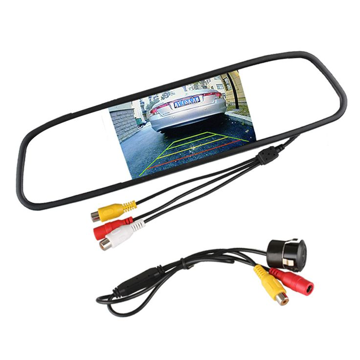 "Auto Waterproof Car Rear View Reverse Backup Camera with 4.3"" TFT LCD Car Mirror Monitor Parking Assistance System"