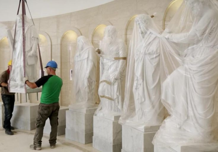 The story behind the statues in the Rome Italy Temple Visitors' Center | Deseret News