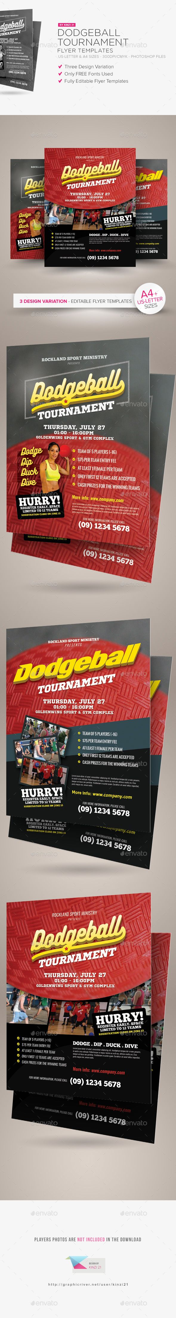 Dodgeball Tournament Flyer Templates | Flyer template ...