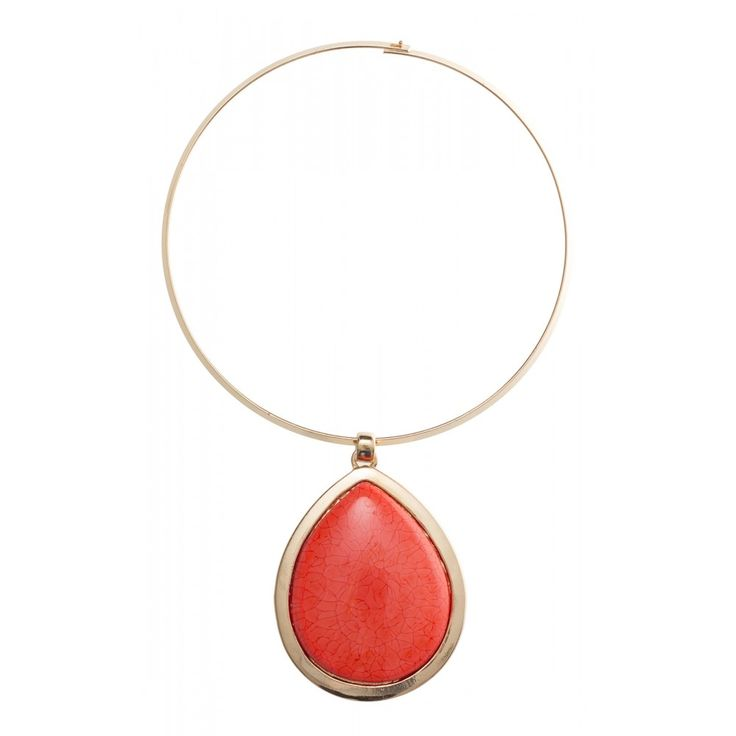 cbch Large Teardrop On Bar Necklace