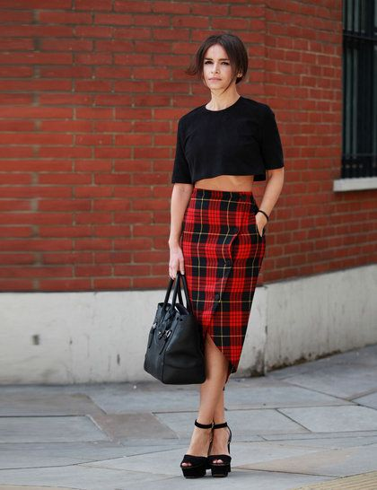 LFW Street Style | ELLE UK | Miroslava Duma wearing one of my absolute favorite street style outfits during LFW