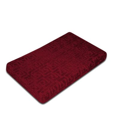Look at this #zulilyfind! Rhubarb Red Tile Innergy Memory Foam Mat #zulilyfinds